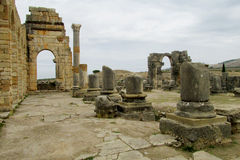 Ancient antique town ruins Stock Image
