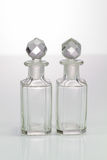 Ancient antique vintage bottles on the white background Stock Photo