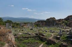 Ancient Aphrodisias city and agora garden royalty free stock images