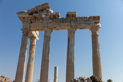 Ancient Apollo temple columns at Turkey Side Stock Images