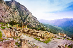 Ancient Apollo temple, Greece Royalty Free Stock Images