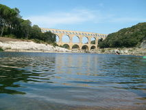 Ancient aquaduct in Provence France Royalty Free Stock Image