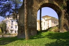 Ancient aqueduc Rome debris archaeology  Italy Stock Image