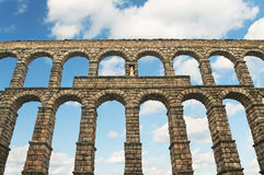 Ancient aqueduct against blue sky Royalty Free Stock Image