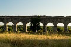 The ancient aqueduct Appio Claudio Stock Photography