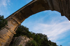 Ancient Aqueduct Arch Stock Photography