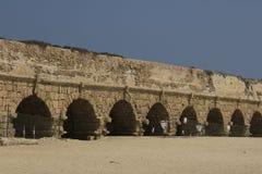 Ancient Aqueduct at Caesarea Maritima stock photo