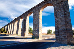 Ancient aqueduct in Evora, Portugal Royalty Free Stock Photo
