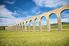 Ancient Aqueduct In Pamplona Royalty Free Stock Image