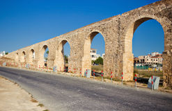 Ancient aqueduct in Larnaca, Cyprus Stock Photography