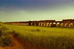 Ancient aqueduct Stock Images