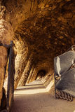 Ancient aqueduct in the park Guell Stock Photography