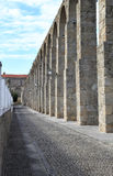The ancient aqueduct of Portuguese Vila do Conde royalty free stock images