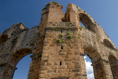 Ancient aqueduct - ruins Royalty Free Stock Images