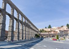 The ancient aqueduct in Segovia Stock Photo