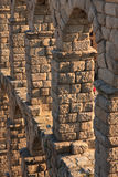Ancient Aqueduct in Segovia Spain Royalty Free Stock Images