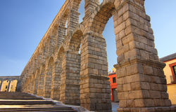 Ancient Aqueduct in Segovia Spain Royalty Free Stock Photo