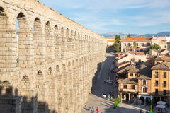 Ancient aqueduct  Segovia Royalty Free Stock Photography
