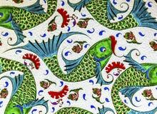 Ancient Arab Fish Designs Pottery Jordan royalty free stock photos