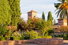 Ancient Arab fortress Alhambra Royalty Free Stock Photo