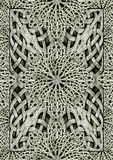 Ancient Arabesque Ornament Stone Artwork Stock Photo