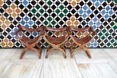 Ancient Arabian Chairs Royalty Free Stock Photo