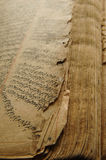 Ancient arabic book. Ancient open book in arabic. old arabic manuscripts Royalty Free Stock Photography