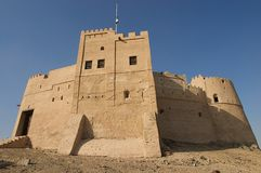 Ancient arabic castle. Somewhere in the United Arabic Emirates Royalty Free Stock Image