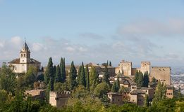 Ancient arabic fortress of Alhambra, Granada, Spain.  Royalty Free Stock Images