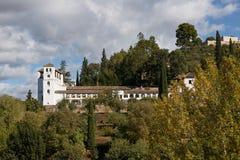 Ancient arabic fortress of Alhambra, Granada, Spain.  Royalty Free Stock Photos