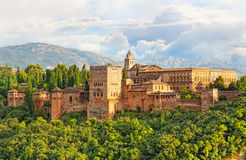 Ancient arabic fortress of Alhambra Stock Image