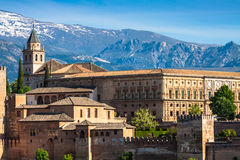 Ancient arabic fortress of Alhambra, Granada, Spain. Stock Photos