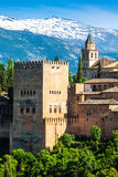 Ancient arabic fortress of Alhambra, Granada, Spain. Stock Images