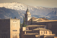 Ancient arabic fortress of Alhambra, Granada, Spain. Stock Photography