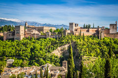 Ancient arabic fortress of Alhambra, Granada, Spain Stock Photos