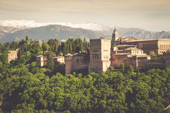 Ancient arabic fortress of Alhambra, Granada, Spain Royalty Free Stock Photos