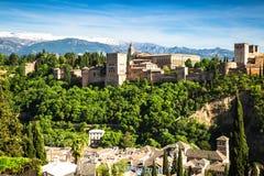 Ancient arabic fortress of Alhambra, Granada, Spain Stock Photo