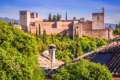 Ancient arabic fortress of Alhambra, Granada, Spain Stock Image