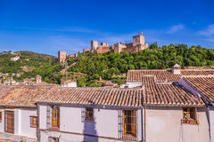 Ancient arabic fortress of Alhambra, Granada, Spain Royalty Free Stock Photography