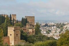 Ancient arabic fortress of Alhambra, Granada, Spain.  Stock Image