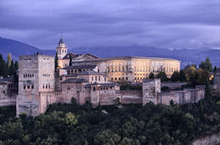Ancient arabic fortress of Alhambra, Granada, Spain Stock Photography