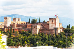 Ancient arabic fortress of Alhambra, Granada, Spain Stock Photo