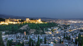 Ancient arabic fortress of Alhambra and Granada, Spain. Royalty Free Stock Photos