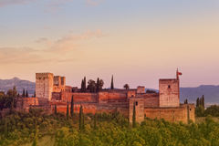 Ancient arabic fortress of Alhambra, Granada Stock Photography