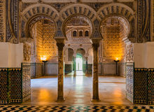 Ancient Arabic palace. An entrance to one of the rooms of an ancient Arabic palace in Andalusia, Spain royalty free stock image