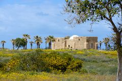 Ancient Arabic tomb in Ashkelon, Israel. Ancient Arabic tomb in Ashkelon, Israel at springtime Stock Photo