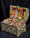 Ancient arabic treasure chest Stock Photos