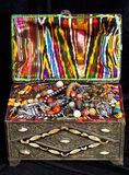 Ancient arabic treasure chest Stock Photo