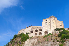 Ancient Aragonese Castle on the rock, Ischia Stock Photo