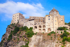 Ancient Aragonese Castle on the rock, Ischia Stock Images